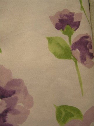 Curtains with flower design - Curtain fabric